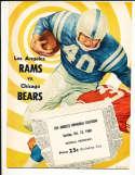 10/23 1960 Chicago Bears vs Los Angeles Rams Football Program bxram