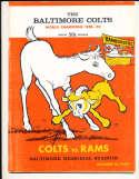 10/16 1960 Baltimore Colts vs Los Angeles Rams Football Program bxram
