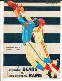 10/9 1960 Chicago Bears vs Los Angeles Rams Football Program bxram