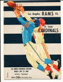 9/23 1960 St. Louis Cardinals vs Los Angeles Rams Football Program bxram