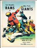 9/15 1960 New York Giants vs Los Angeles Rams Football Program bxram