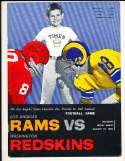 8/19 1960 Washington Redskins vs Los Angeles Rams Football Program bxram