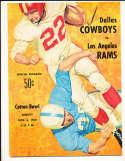 11/6 1960 DALLAS COWBOYS VS  Rams Football Program RARE! bxram