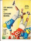 9/5 1959 Cleveland Browns vs Los Angeles Rams Football Program bxram