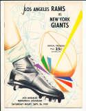 9/26 1959 New York Giants vs Los Angeles Rams Football Program bxram