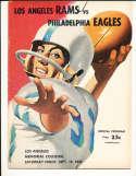 9/19 1959 Philadelphia Eagles vs Los Angeles Rams Football Program bxram