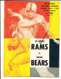11/1 1959 Chicago Bears vs Los Angeles Rams Football Program bxram