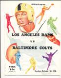 10/22 1950 Baltimore Colts vs Los Angeles Rams Football Program bxram