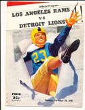 10/29 1950 Detroit Lions vs Los Angeles Rams Football Program bxram
