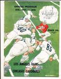 11/11 1951 chicago cardinals vs Los Angeles Rams Football Program bxram