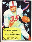 12/2 1951 chicago Bears vs Los Angeles Rams Football Program bxram