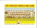 1961 Los Angeles Angels Falstaff Team Picture baseball card