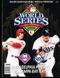 2008 World Series Baseball program Phillies vs Tampa Bay bxws