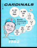 1962 St. Louis Cardinals Baseball Yearbook with .75 label