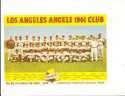 1961 Los Angeles Angels Falstaff Team photo issue Card 6x9