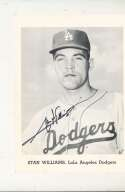Stan Williams Los Angeles Dodgers Signed Picture Pack card 5x7