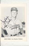 Ron Fairly Los Angeles Dodgers Signed Picture Pack card 5x7