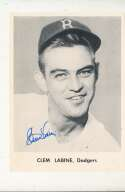 Clem Labine 1955 Brooklyn Dodgers Signed Picture Pack card 5x7