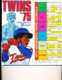 1975 Minnesota Twins Baseball Media Guide