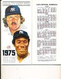 1975 New York Yankees Baseball Media Guide