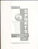 1973 Cal State Hayward Basketball Media Guide
