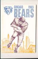 1965 Chicago Bears Press Media Guide em/nm