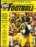 1974 Jim Bertelsen Rams Street and Smith's Pro Football yearbook bxss