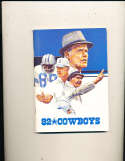 1982 Dallas Cowboys Media Guide bxguide