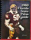 1980 Florida State Football Media Guide bx32