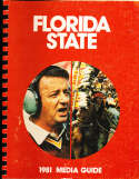 1981 Florida State Football Media Guide bx32