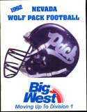 1992 Nevada Football Media Guide bx32