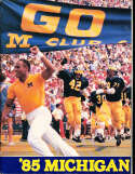1985 Michigan Football Media Guide bx32