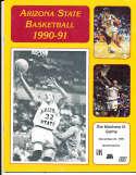 1990 ASU vs Montana State basketball program bkbx24
