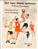 1966 West Coast Athletic Conference Basketball program bkbx24