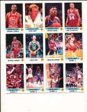 1990-91 Basketball Panimi Sticker Album 180 stickers Michael Jordan bx32