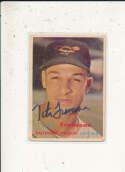 Tito Francona Orioles #184  1957 Topps signed jsa auction letter