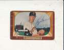 Roger Bowman Pirates #115 creased 1955 Bowman card Signed