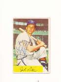 Jack Ditmer Braves #48 1954 Bowman card Signed