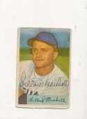 Willard Marshall White Sox #70 1954 Bowman card Signed
