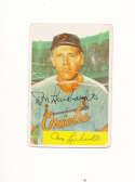 Don Lenhardt Orioles #53 1954 Bowman card Signed