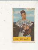 Art Houtteman Indians #20 1954 Bowman card Signed