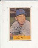 Paul Minner Cubs #13 1954 Bowman card Signed