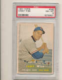 Casey Wise Cubs #396 1957 Topps card Psa 8 NM