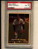 Murry Dickson Cardinals #71 1957 Topps card PSA 8 NM vs2
