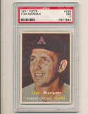 Tom Morgan A's #239 1957 Topps card PSA 7 nm