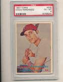 Chico Fernandez Phillies #305 1957 Topps PSA 6 EM card