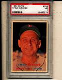 Steve Gromek Tigers #258 psa 7 nm 1957 Topps card
