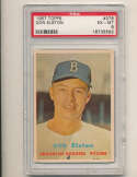 Don Elston Dodgers #376 psa 6 em 1957 Topps card