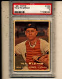 Wes Westrum Giants #323 psa 7 nm 1957 Topps card