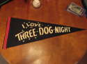 1970's I love the Three Dog Night black pennant
